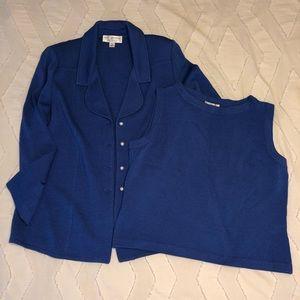 St. John Cobalt Blue Two Piece Set